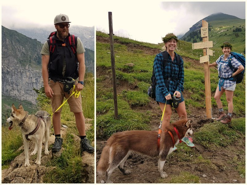 Hiking from Morzine in the French Alps to Refuge de Bostan (Samoëns) with kids and dogs