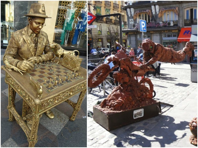 Madrid with kids: street performers