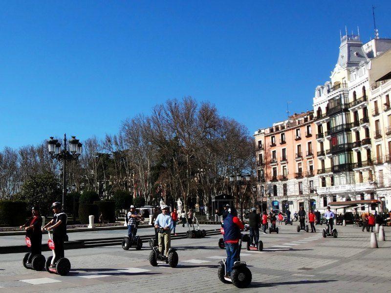 Madrid with kids: Segways