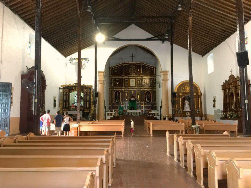 Panama with kids: The Black Christ of Portobelo is inside Iglesia de San Felipe