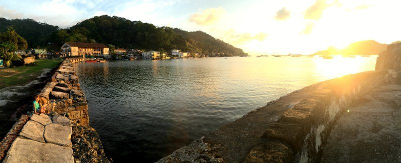 Panama with kids: Portobelo bay