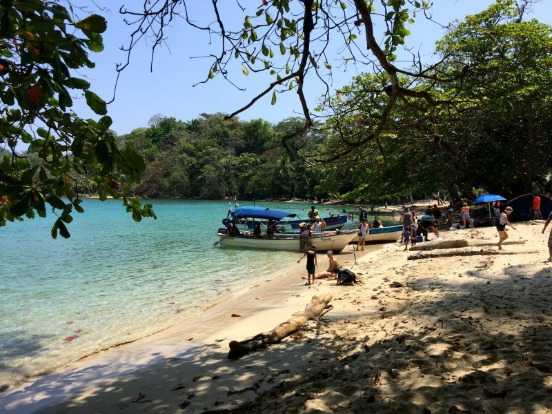 Panama with kids: Playa Blanca can get very crowded on National Holidays
