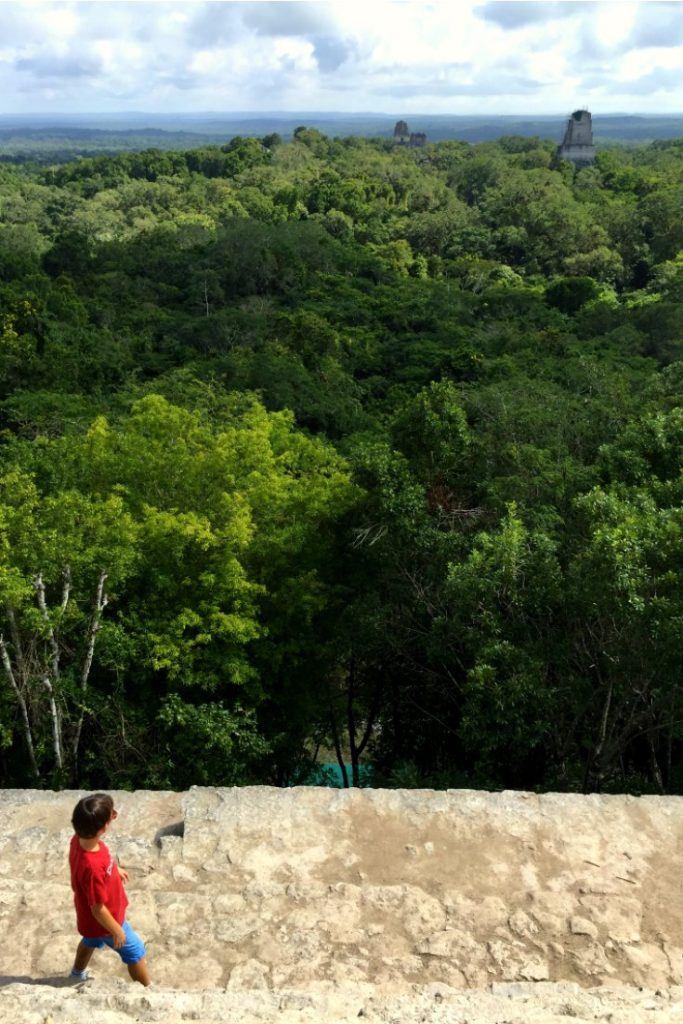 Guatemala with kids: Tikal Temple IV
