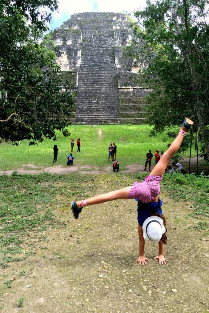 Guatemala with kids: Cartwheeling round Tikal