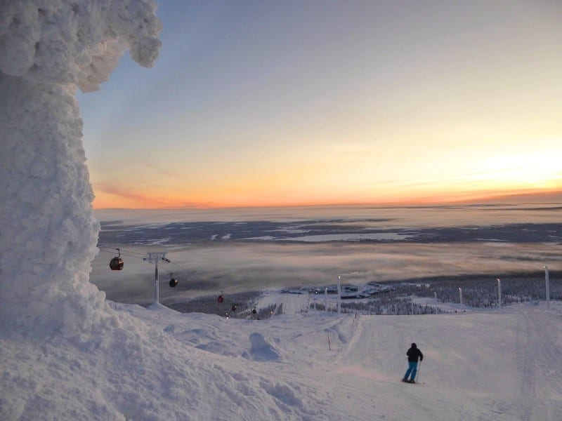 Skiing in Finland