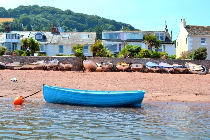 Holiday homes on the beach in South Devon