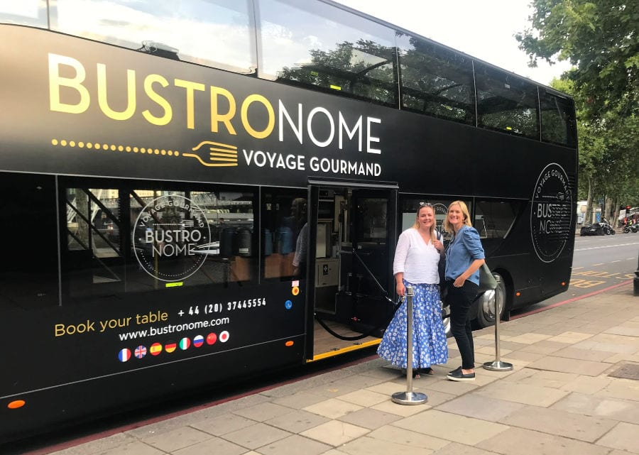 This double-decker bus tour is the most entertaining dinner