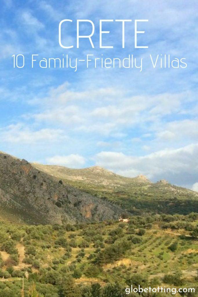 The best family-friendly villas in Crete, Greece. #globetotting #familytravel #travel #travelwithkids #kidslovetravel