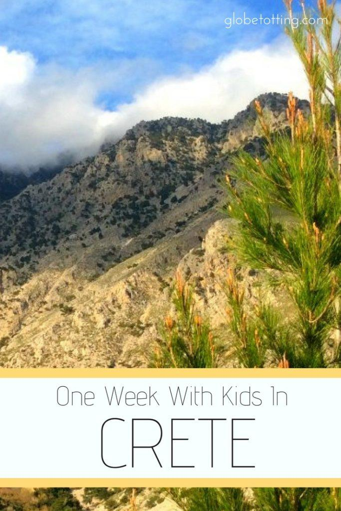Crete for families; a one-week itinerary for visiting the island of Crete with kids. #globetotting #familytravel #travel #travelwithkids #kidslovetravel