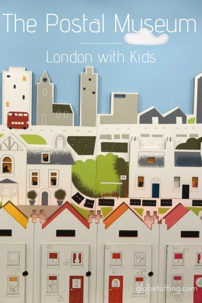 Things to do in London with kids; London's Postal Museum. #globetotting #familytravel #travel #travelwithkids #kidslovetravel