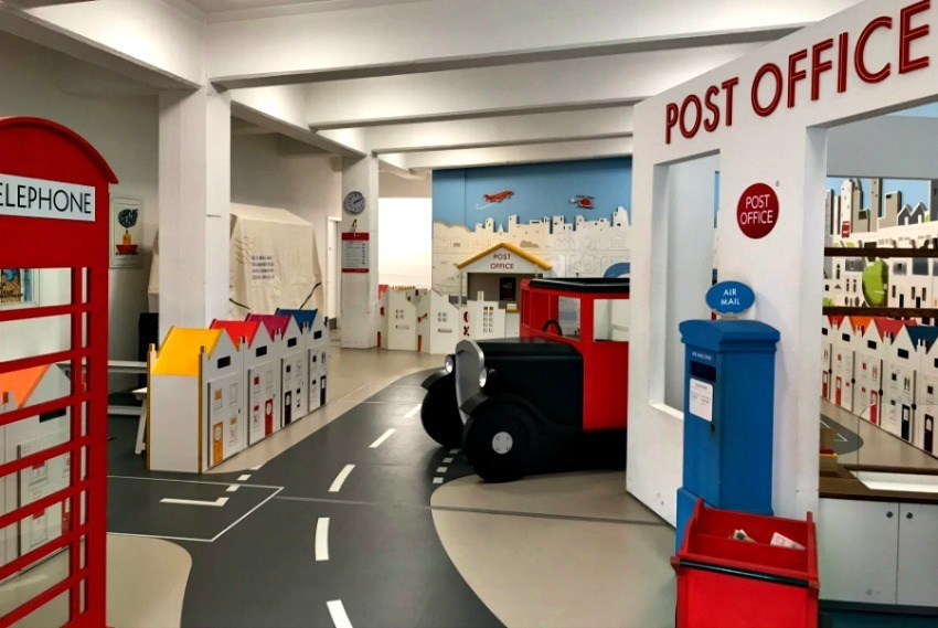 London postal museum; things to do in London with kids.