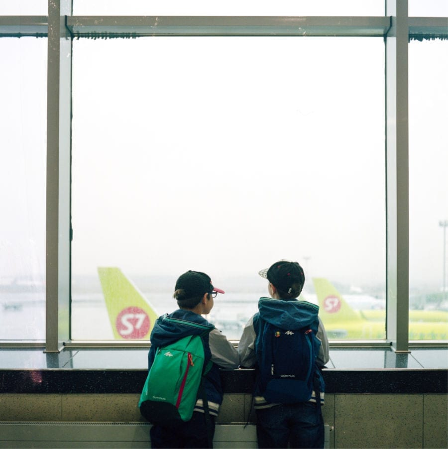 Cancelled flights with kids