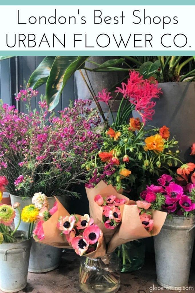 London' best shops: Urban Flower Co I #globetotting #familytravel #travel #travelwithkids #kidslovetravel