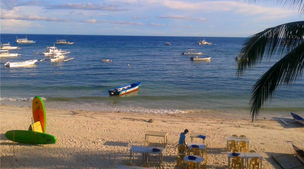 The beach at Alona on Panglao Island.