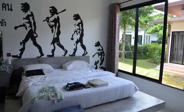 Modern design in the bedrooms