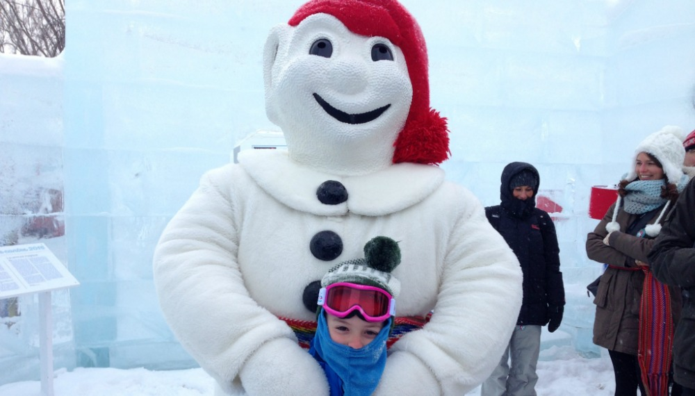 Image of Bonhomme at the Québec Winter Carnival