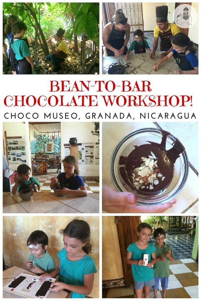 Nicaragua with Kids: The Choco Museo bean-to-bar chocolate workshop, Granada