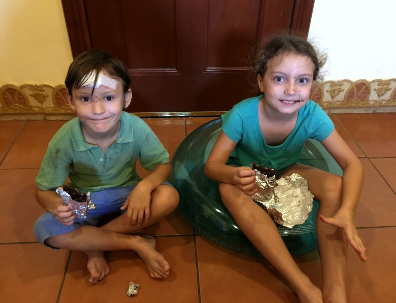 Choco Museo, Granada. Nicaragua with kids: Discovering that chocolate tastes even better if you've made it yourself!