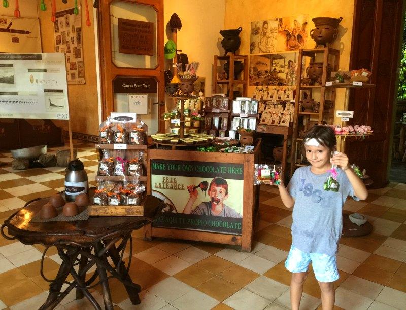 Nicaragua with Kids: The Choco Museo, Granada,