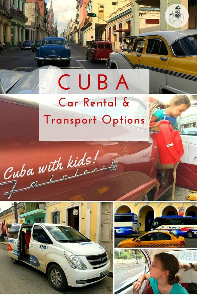 Cuba car rental and transport options: Includes tips on booking car rental, a car with driver, taxis and buses.