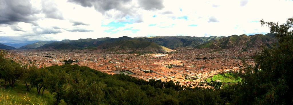 The view of Cusco from Sacsayhuaman