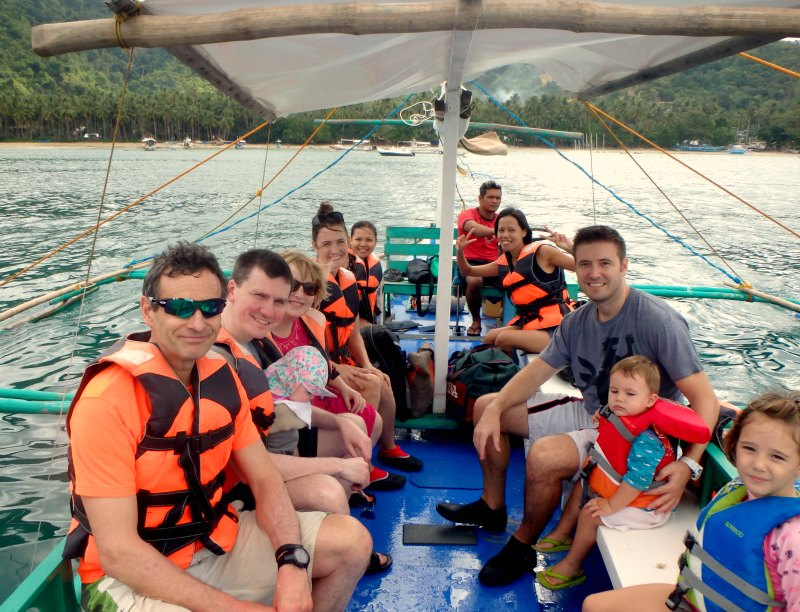 El Nido with kids: Book as many bangka boat island hopping tours as possible!