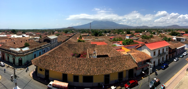 Granada with kids, Nicaragua: Mombacho Volcano overlooks Granada