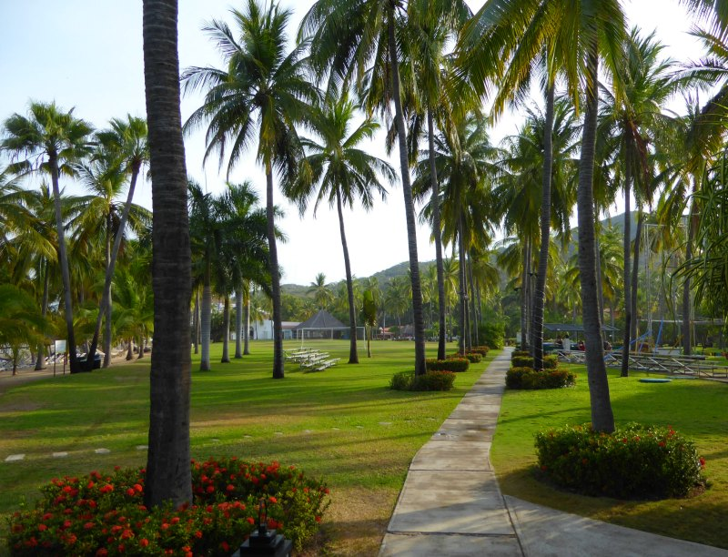 The grounds of Club Med Ixtapa