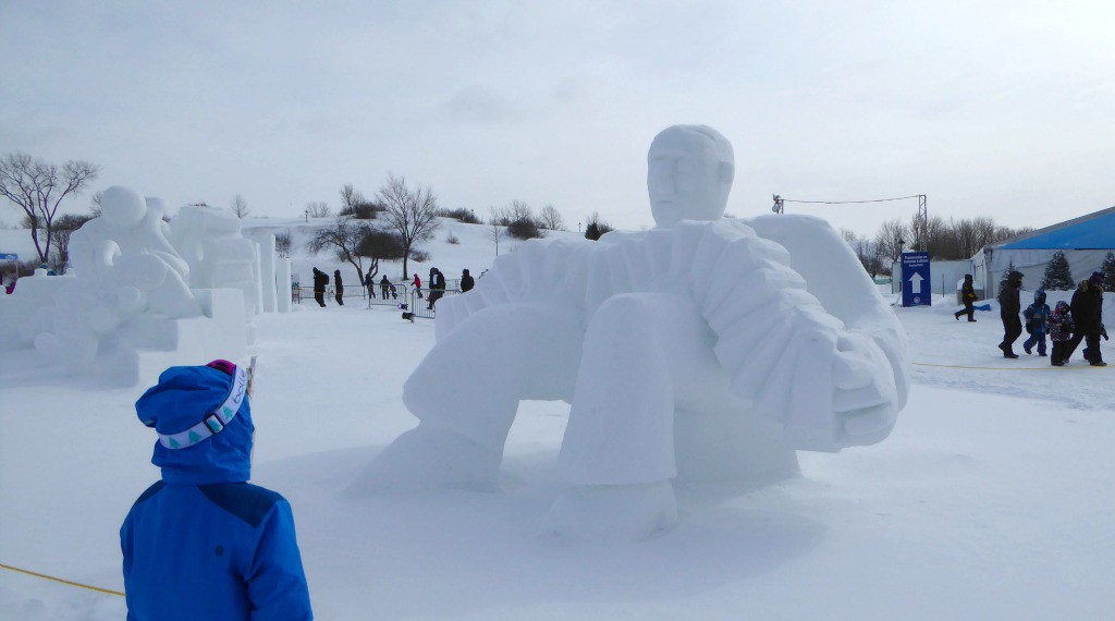 Image of snow sculpture at the Quebec Winter Carnival
