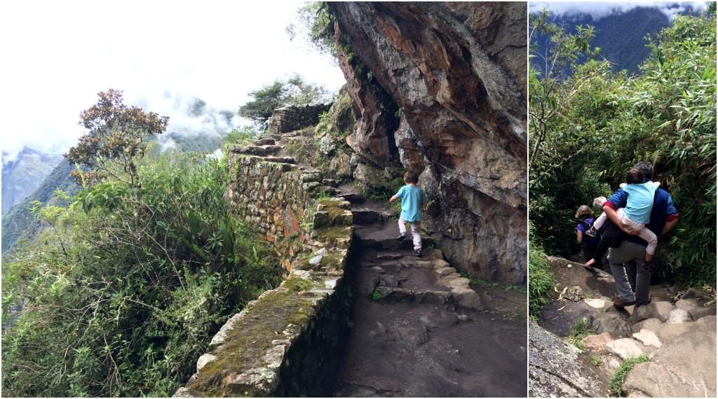 The path to the Inca bridge