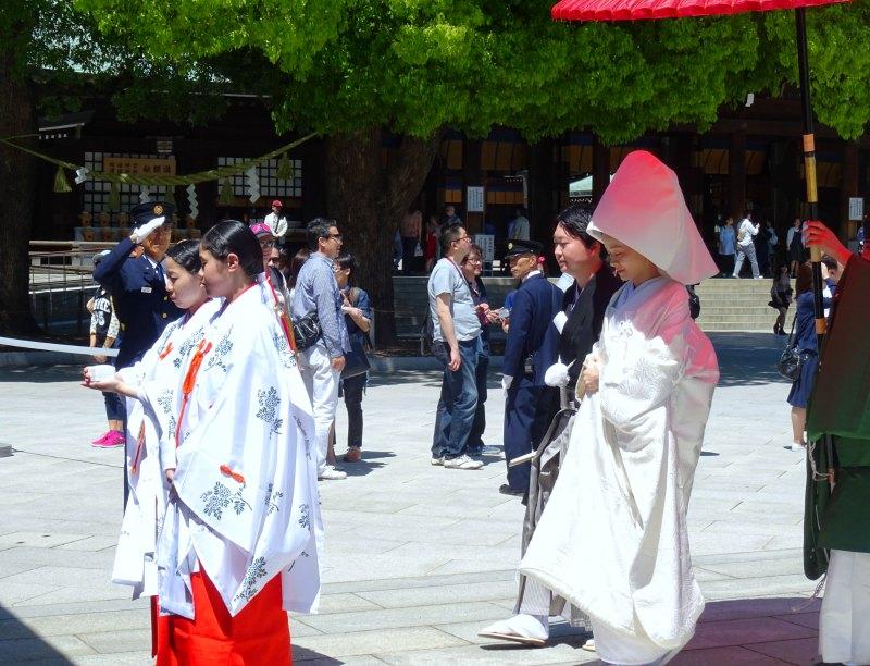 Tokyo with kids: A wedding in Meiji Shrine
