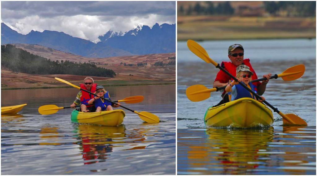 Kayaking on Lake Huaypo