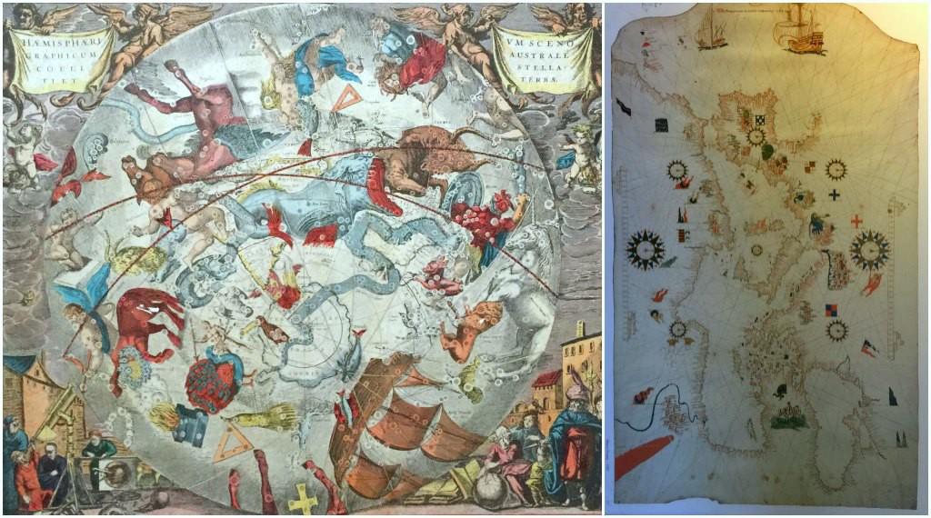 Maps in La Rábida