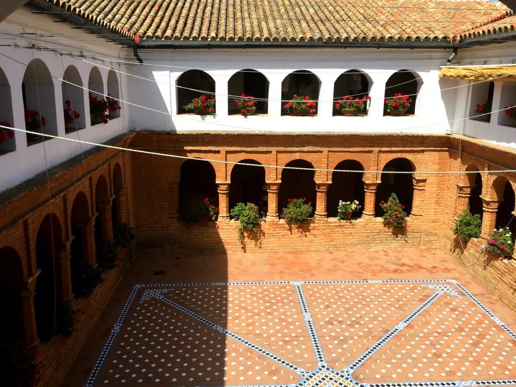The Mudéjar-style cloisters in La Rábida