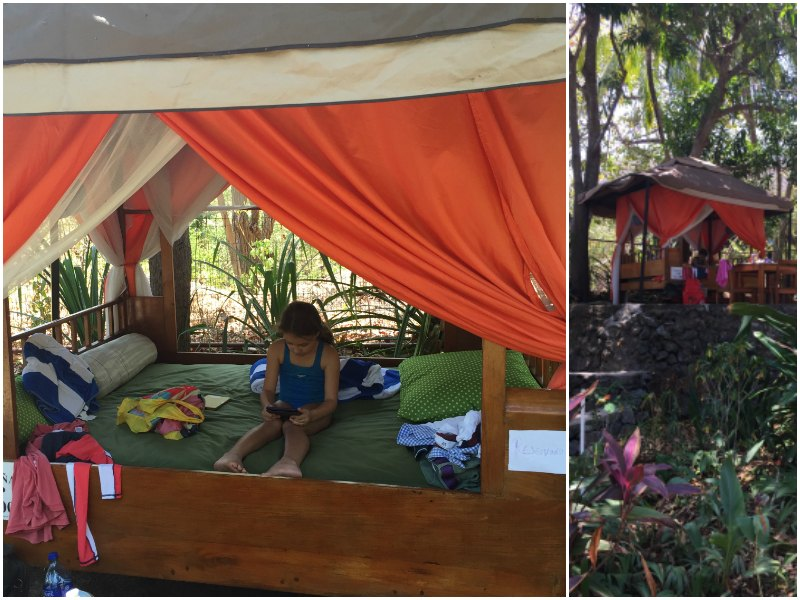 Nicaragua with kids: The VIP section in Laguna Beach Club, Lake Apoyo