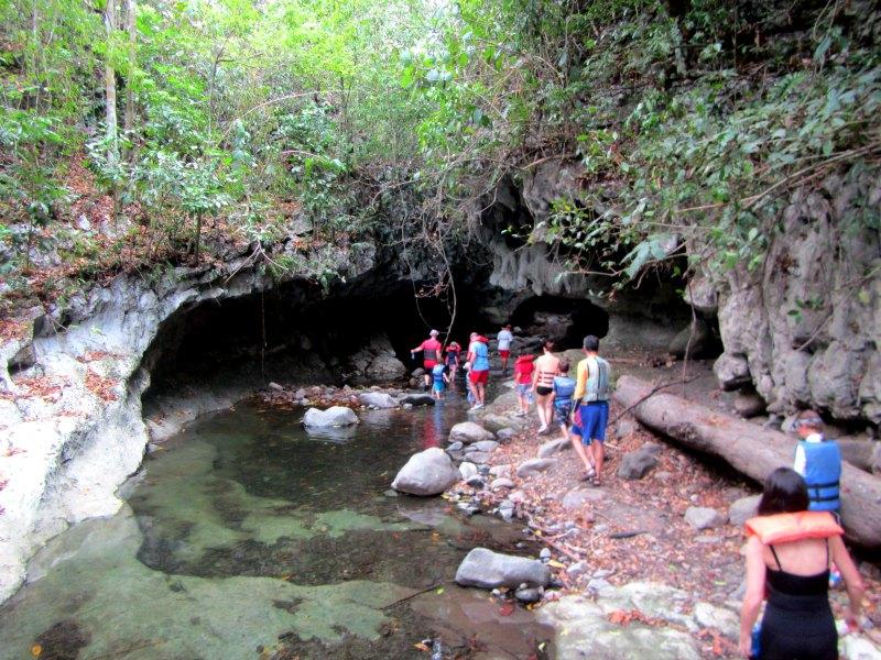 Panama snake: the entrance to the caves at Lake Bayano