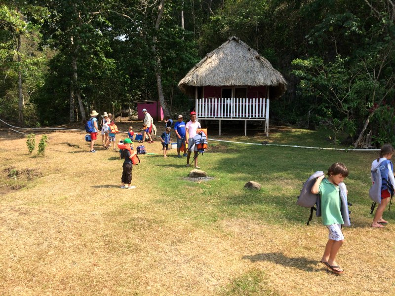 Panama with kids: Guests can stay overnight in a basic lakeside cabin, Lake Bayano