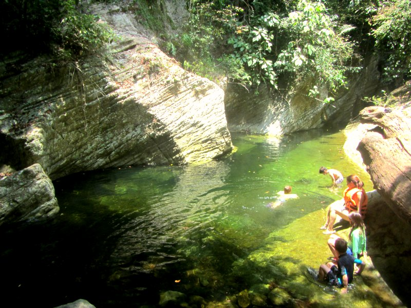 Panama snake adventure: The enchanting lagoon at the end of the 'road'