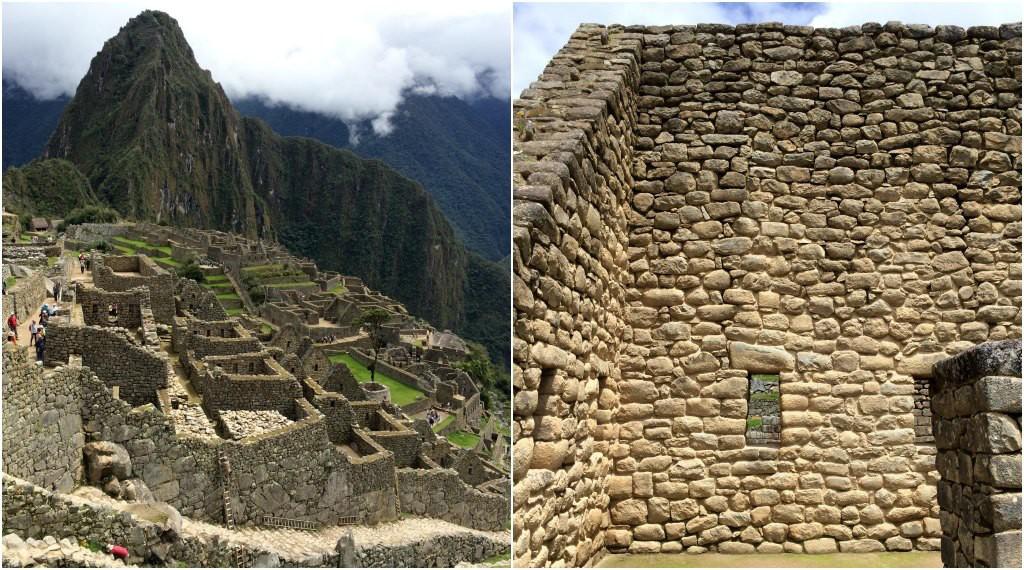 Incredible Inca stone walls at Machu Picchu