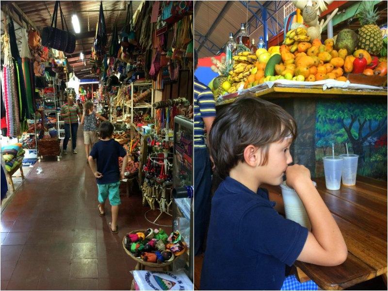 Nicaragua With Kids: Masaya Artisan Market. Juice bar.