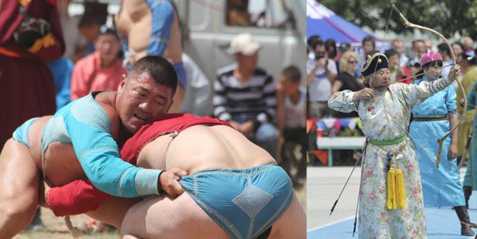 Mongolian wrestling & archery