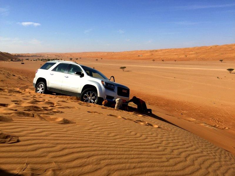 Oman car desert