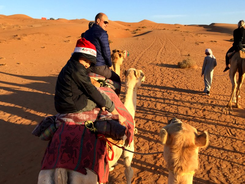 Oman for families: A camel ride in the desert