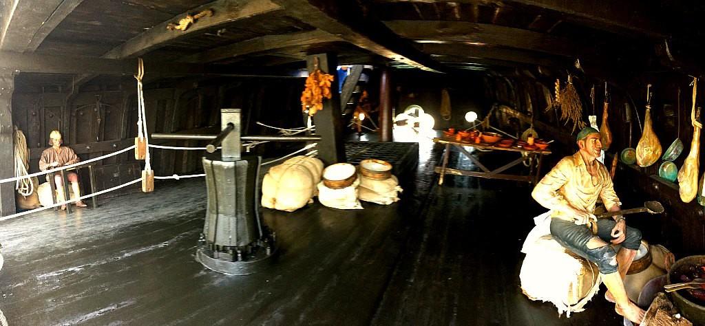 Onboard the Santa Maria, Christopher Columbus' boat