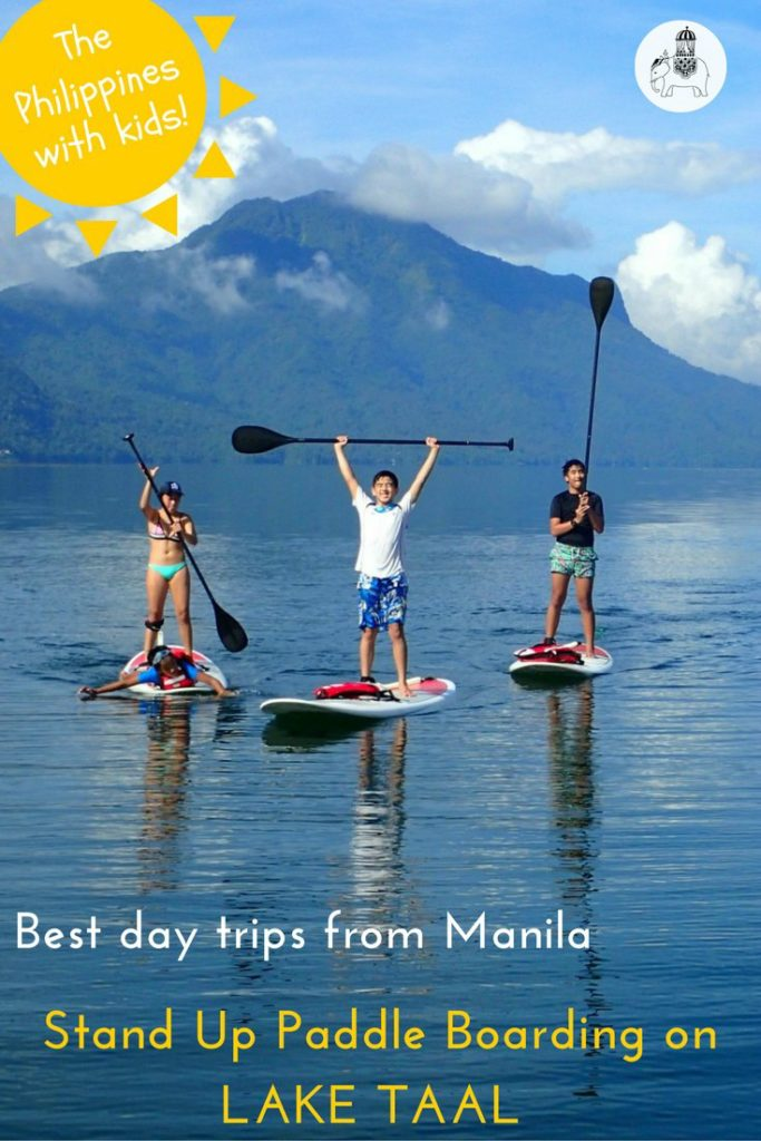 The best day trips from Manila in The Philippines: Stand Up Paddle Boarding on Lake Taal