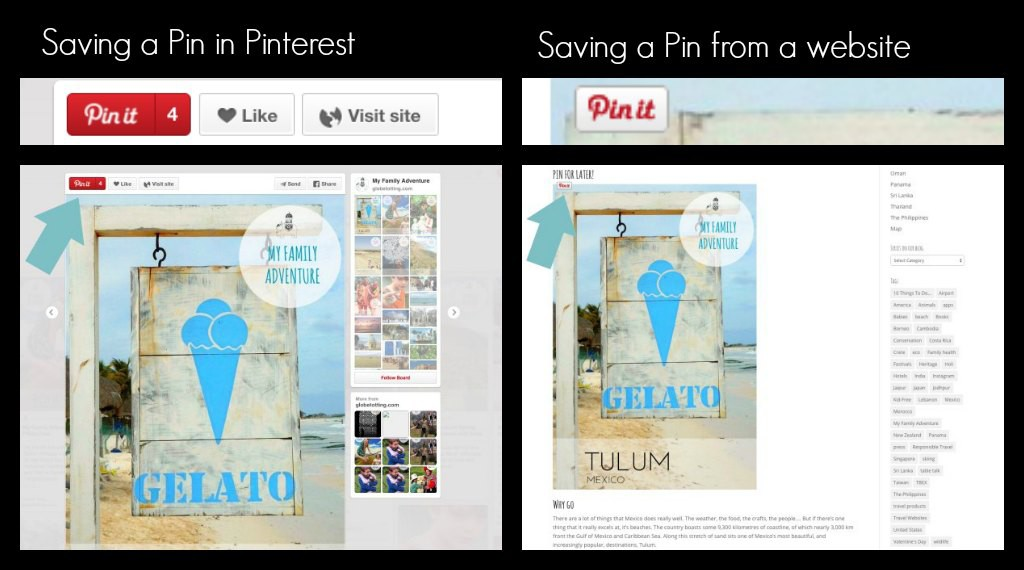Pin it buttons