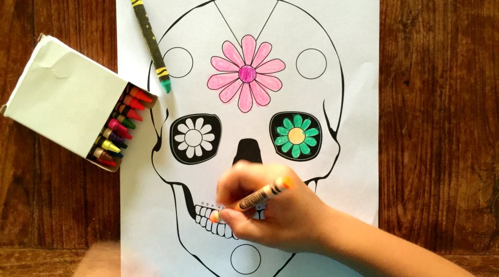 Day of the Dead printable for little kids