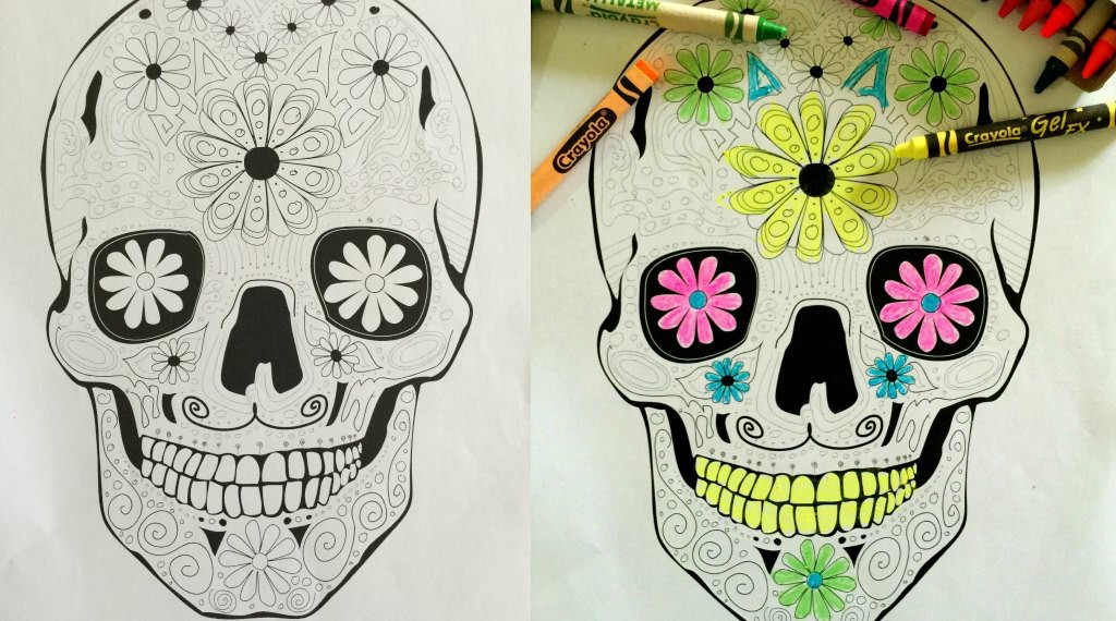 Day of the Dead printable for big kids