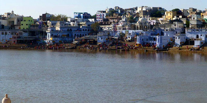 Pushkar Lake where we carried out a Pooja at one of the 52 Ghats.