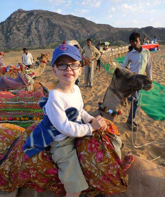 Riding camels is, not surprisingly, one of the highlights at the Pushkar Fair.